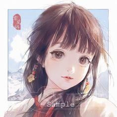 anime, art, and illustration image Kawaii Anime Girl, Anime Art Girl, Manga Girl, Anime Angel, Manga Anime, Chibi, Anime Lindo, Sarada Uchiha, Digital Art Girl