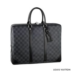 With smooth leather trimmings and a spacious interior, the Porte-Documents Voyage from Louis Vuitton combines luxury and practicality. | See more about smooth leather, voyage and louis vuitton.