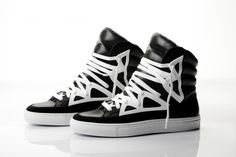 brill! Rip-Off's TYPE EIGHT (BLACK)  #hightops #sneakers #black