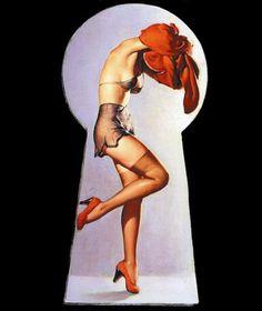 Gil Elvgren's paintings of pin-ups.
