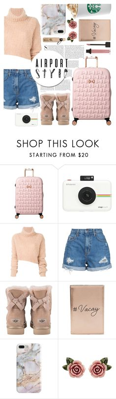 """""""I am ready for my fly"""" by mara-glamour ❤ liked on Polyvore featuring Kershaw, Ted Baker, Polaroid, Ann Demeulemeester, Nobody Denim, UGG, Miss Selfridge, Recover, Dolce&Gabbana and Moschino"""
