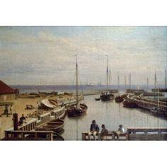 Leport De Dragor by Christoffer W Eckersberg painted image (1783-1853) Canvas Art - Christoffer W Eckersberg (18 x 24)