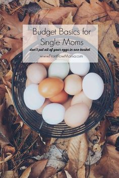 Basic budgeting tips for single moms living on one income. Learn how to set up an emergency fund and live simply.