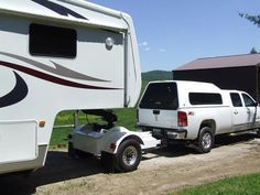 Three Quarter Ton Truck Towing With The Automated Safety Hitch System