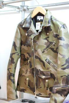 eYe Camo Biker Jacket from Vanson x Junya Watanabe