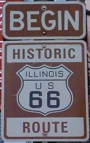 From Grant Park you can start your journey west to California on Route 66.