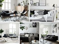 Decoração Black and White - Sala
