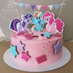 My Little Pony Cake Topers Pinky Pie Rainbow Dash Twilight Sparkle Birthday Stars