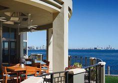 balcony overlooking ocean