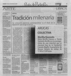 Canarias 7 / 7 de diciembre de 2001 Viernes 7 de diciembre de 2001/Pg.19 A R T E  A R U C A S C O L E C T I V A  Morilla/Quevedo URL http://www.artemorilla.com/index.php?ci=106