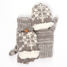 MUK LUKS Classic Flip Mittens with Faux Fur