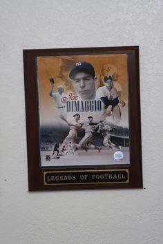 Joe Dimaggio Collectible Plaque
