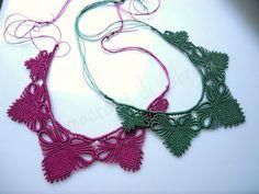 il macramè di sabrina: Collane di luglio per Rosella