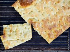 I feel the need to specify authentic because I am afraid l there is an overall misconception about what focaccia is and should be. Focaccia should not be thick or doughy. I have encountered so many… Italian Dishes, Italian Recipes, Focaccia Recipe, Air Fryer Recipes, Grilling Recipes, Just Desserts, Love Food, Food And Drink, Easy Meals