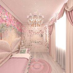 Дизайн детской комнаты для девочки в розовом цвете http://www.line-mg.ru/dizayn-kvartiry-zhk-dolina-setun