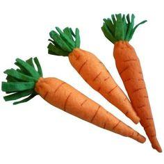 Légumes en feutrine: les carottes