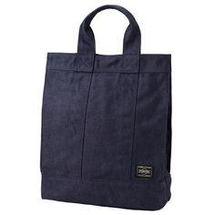 Porter Smoky Tote Bag. Product No.:592-07629. Material: CORDURA duck (warp: 1000D irregular cotton yarn, weft: 1000D CORDURA nylon). Size: W260/H330/D125. Weight: 420g