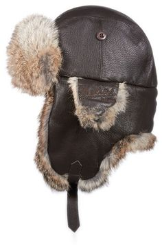 Woolrich Leather Aviator Cap on shopstyle.com Diy Hat 5837f945c3d0