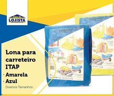 Lona para carreteiro azul/amarela. Ligue e adquira já a sua (11) 2090.0800 #casadolojista #construção #lona #promoção #atacadista