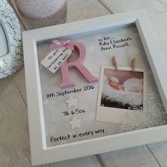 Bébé fille 1er scan cadre photo nouveau-né aluminium Cadeau Keepsake 2e nouveau