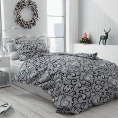 Krepové povlečení šedé černé orient ornament elegantní Comforters, Blanket, Living Room, Furniture, Design, Home Decor, Creature Comforts, Quilts, Decoration Home