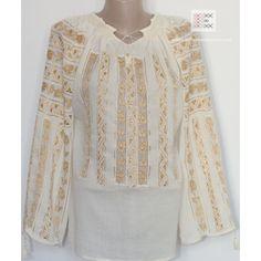 100% handmade hemstitch embroidery - bohemian bloue - romanian top - worldwide shipping!