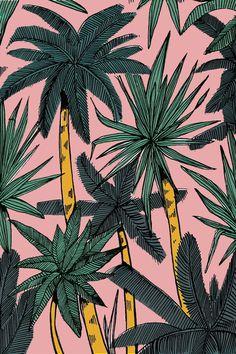 Palmeras, hojas, flores... Patterns de inspiración tropical