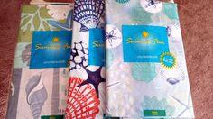 "Summer Fun Vinyl Tablecloths, 60"" Round, Coastal Sea Life,3 styles  #Elrene"