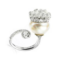 A Natural Pearl and Diamond Ring, by Bhagat (=)