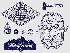 Thirst Relief shirt design elements