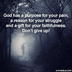 A purpose for your pain and a reson for your struggle   https://www.facebook.com/photo.php?fbid=10151969702188848