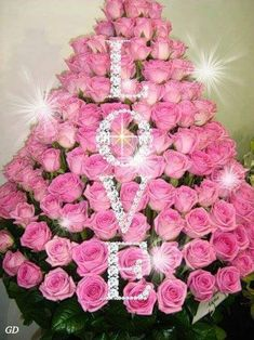 Flower art Large Flower Arrangements, Funeral Sprays, Rose Trees, Pastel Pink, L. Rosen Arrangements, Large Flower Arrangements, Flower Arrangement Designs, Large Flowers, Beautiful Roses, Beautiful Flowers, Funeral Sprays, Flower Chart, Happy Birthday Flower