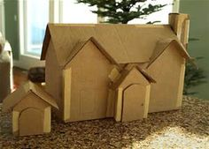 Best Photos of Cardboard House Patterns - Christmas Paper House Patterns, Free Printable Paper House Template and Cardboard Gingerbread House Patterns Cardboard Gingerbread House, Gingerbread House Patterns, Gingerbread House Template, Christmas Gingerbread House, Noel Christmas, Gingerbread Houses, Christmas Glitter, Christmas Projects, Home Crafts