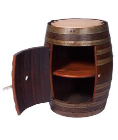 RECYCLED WINE BARREL SIDE CABINET   Recycled Wine Barrel Side Cabinet is Handmade from Reclaimed Oak for Rustic, Practical Home Decor   UncommonGoods
