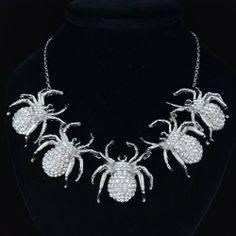 Exquisite Christmas Spider Necklace . Starting at $25 on Tophatter.com!  #tophattergifts