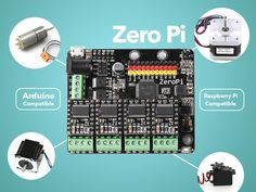 ZeroPi is a new generation development kit for robotic motion structure system and 3D printer with Arduino and Raspberry Pi compatible.