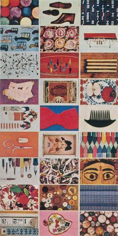 Eames House of Cards, as imaged in a British magazine in 1966  Some, but not all of the cards from the picture deck