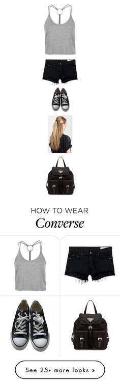 """Untitled #2804"" by twerkinonmaz on Polyvore featuring Topshop, rag & bone/JEAN, Converse, France Luxe and Prada"