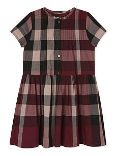 f65f02165 BURBERRY Bretty checked cotton dress 4-14 years Our Kids, Cotton Dresses,  Burberry