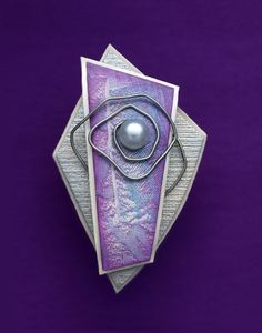 "Magnetic Pendant/Brooch ""Arriving Somewhere"" by Helen Breil"