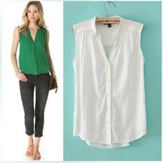 2013 New British Style Women ZA* Slim Sweet Sleeveless Shirt  Blouse Formal Tops,6 Colors, Women's clothing,C91,Free Shipping $23.99