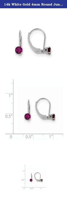 14k White Gold 4mm Round June/Rhodolite Leverback Earrings, Gem Ctw.0.7. Attributes Polished 14K White gold Leverback Genuine Rhodolite garnet Product Description Material: Primary - Purity:14K Stone Type 1:Rhodolite Garnet Stone Color 1:Red Stone Quantity 1:2 Length of Item:4 mm Plating:Rhodium Stone Weight 1:0.350 ct Material: Primary:Gold Stone Shape 1:Round Stone Size 1:4.00 mm Stone Treatment 1:Not Enhanced Width of Item:4 mm Product Type:Jewelry Jewelry Type:Earrings Material…