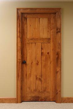 Attractive Shaker Style 3 Panel Knotty Pine Interior Door.