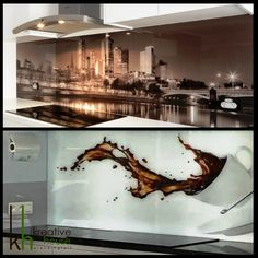 Printed Glass Splashbacks, Heat Resistant Glass, Residential Architect, Commercial Design, Pune, Design Firms, Hyderabad, Innovation Design, Modern Interior