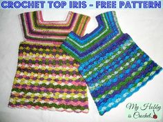 Crochet Iris Top for Girls, size 3-5 years « The Yarn Box The Yarn Box
