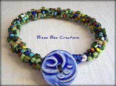 Picasso Bracelet, Kumihimo by bizeebeecreations, via Flickr