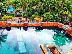 This picture was taken on top of Leap Of Faith (famous icon of Atlantis Resort - Water slide through shark tank). Yes those shadows are sharks in the water. . . . #leapoffaith #atlantis #bahamas #paradise #island #nassau #waterslide #exciting #scary #happy #fun #instahappy #instagram #instagood #instatravel #travel #vacation #resort #sharks #sharktank #aquarium #water #watercolor #follow #me #like #activity #fantastic #amazing