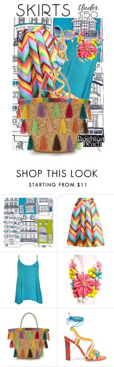 """""""BRIGHTON up your life"""" by zappa ❤ liked on Polyvore featuring HARLEQUIN, Relaxfeel, WearAll, Paula Cademartori, UNIF, under50 and skirtunder50"""