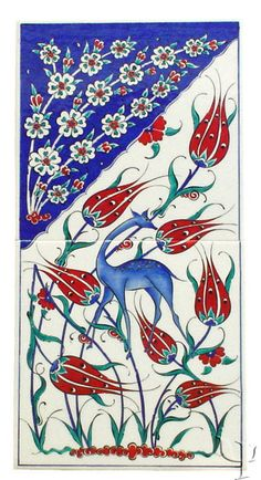 Thanks @Sally Edith Green and @istanbul!place apartments - of course I must repin this!  Iznik tulips • link to synopsis of historical tulip culture in Turkey