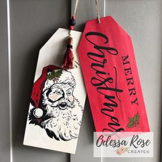Chalk Full of Fun! Merry Christmas Santa, Christmas Wood, Christmas Signs, Chalk Crafts, Christmas Craft Projects, Wood Tags, Halloween Porch Decorations, Halloween Signs, Wooden Gifts